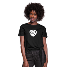 Load image into Gallery viewer, Selflove Women's Knotted T-Shirt - black