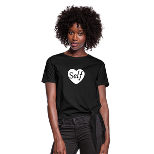 Selflove Women's Knotted T-Shirt - black