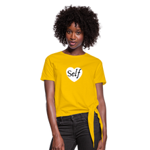 Load image into Gallery viewer, Selflove Women's Knotted T-Shirt - sun yellow