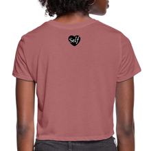 Load image into Gallery viewer, Self-Love Women's Cropped T-Shirt - mauve