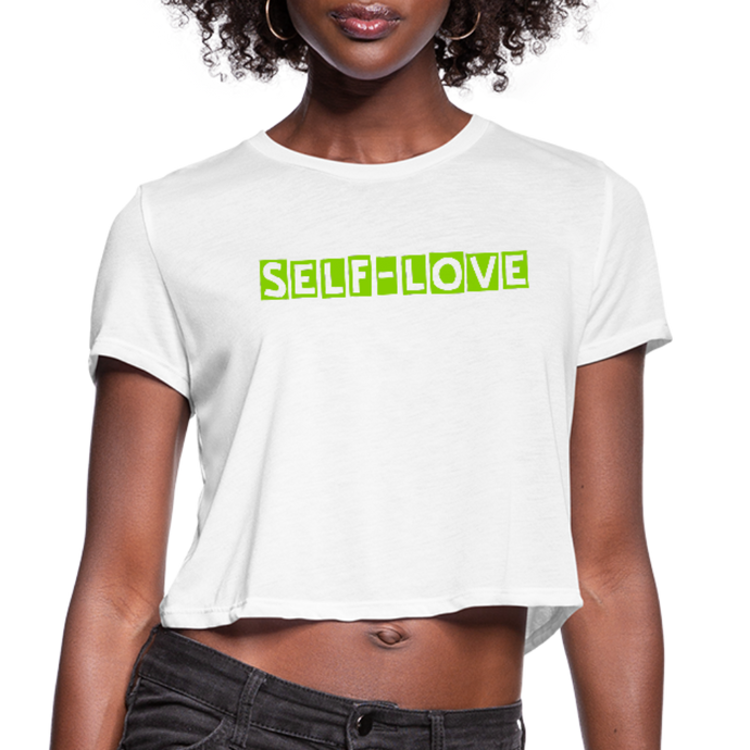 Women's Cropped T-Shirt - white