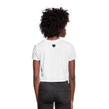 Load image into Gallery viewer, Women's Ankh Cropped T-Shirt - white