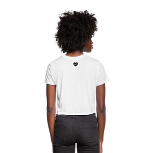 Women's Ankh Cropped T-Shirt - white