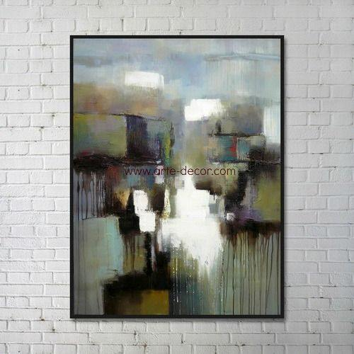Misty Abstract Forms Canvas Wall Painting