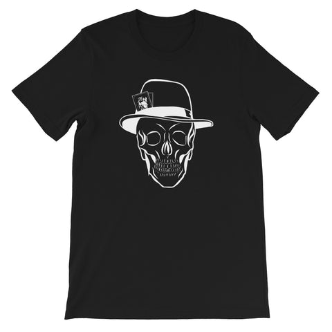 designedbybob t-shirt tête de mort poker black