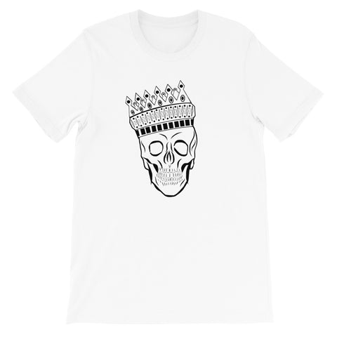 designedbybob crown skull t-shirt white
