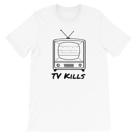 designedbybob tv kills t-shirt white