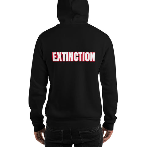 Black printed hoodie extinction rebellion paris