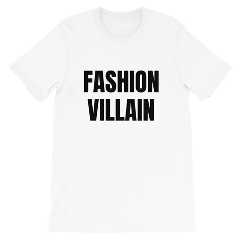 t-shirt blanc fashion villain designedbybob