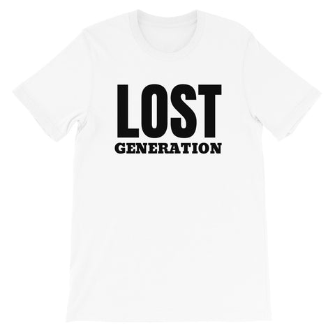 tee shirt blanc Lost Generation designedbybob