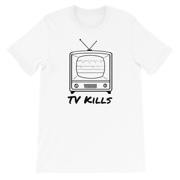 designedbybob t-shirt tv kills blanc