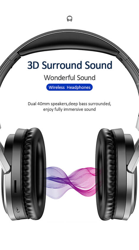 Wireless Headphones for Bluetooth Devices