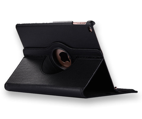 LITCHI LEATHER 360 ROTATIONAL CASE for iPad 2, 3 & 4#Colour_Black