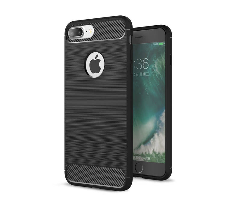 IPHONE 7/8+ DURABLE TPU CASE - BLACK