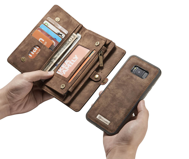 2IN1 DETACHABLE SUEDE WALLET for Galaxy S8