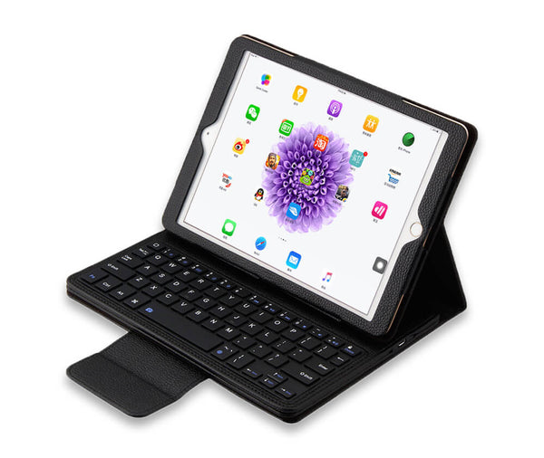 IPAD 2-4 LITCHI LEATHER BLUETOOTH KEYBOARD - BLACK#Colour_Black