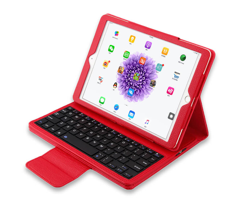 IPAD 2-4 LITCHI LEATHER BLUETOOTH KEYBOARD - BLACK