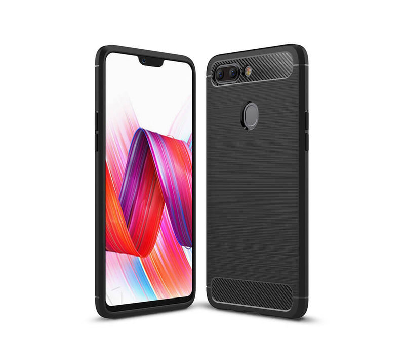 OPPO R15 DURABLE TPU CASE - BLACK