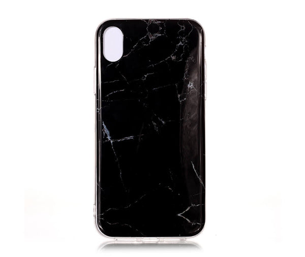 IPHONE X/XS MARBLE PRINT CASE - BLACK#Colour_Black