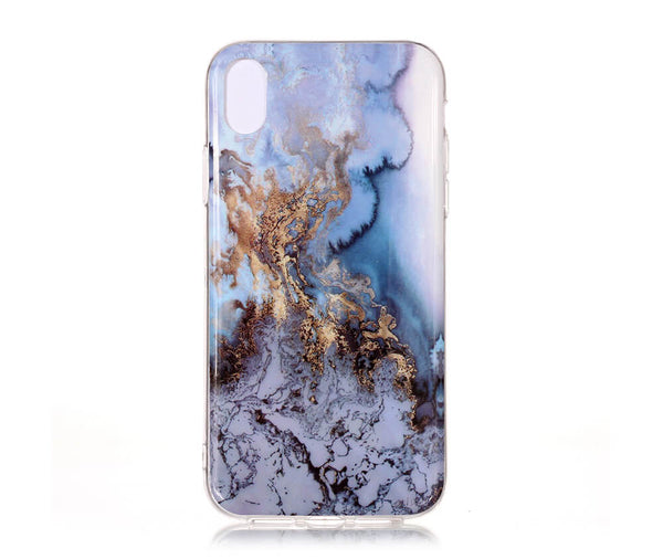 IPHONE X/XS MARBLE PRINT CASE - BLUE#Colour_Blue