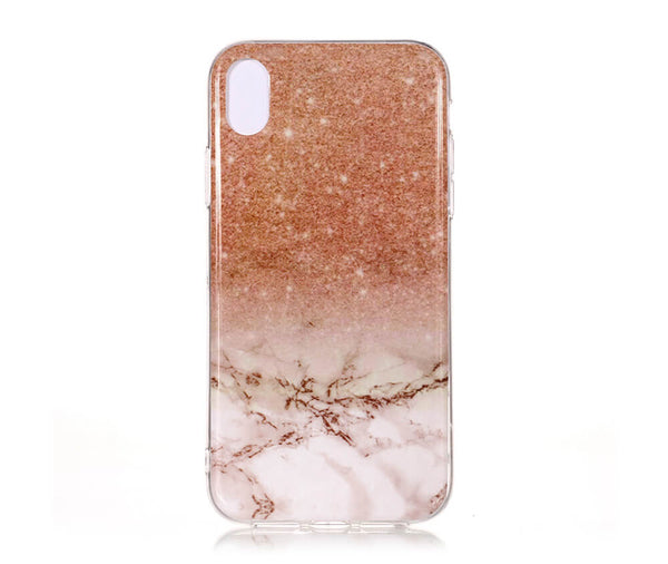 IPHONE X/XS MARBLE PRINT CASE - PINK+WHITE#Colour_Pink