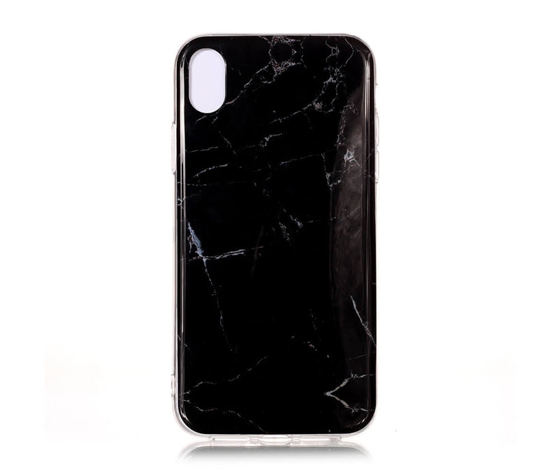 IPHONE XR MARBLE PRINT CASE - BLACK