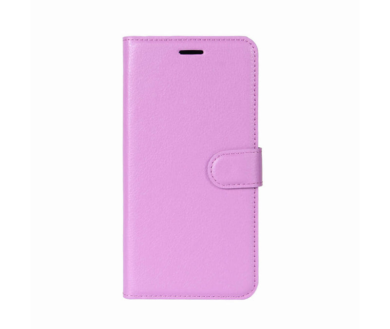 LITCHI LEATHER WALLET CASE for iPhone XS Max