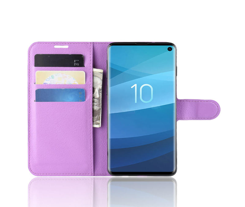 LITCHI LEATHER WALLET CASE for Galaxy S10 5G