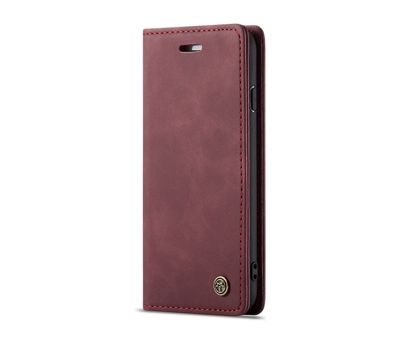 SUEDE LEATHER WALLET CASE for iPhone 7 Plus & 8 Plus