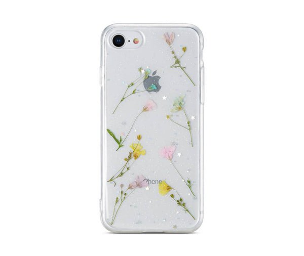 Dried Petal Flower Clear Back Protective TPU Case