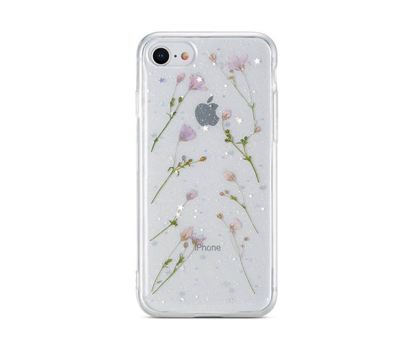 Dried Daisy Flower Clear Back Protective TPU Case