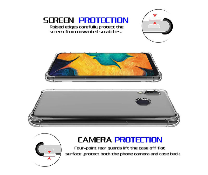 SLIM & PROTECTIVE TRANSPARENT TPU W/ RAISED EDGES for Galaxy A20 & A30_4
