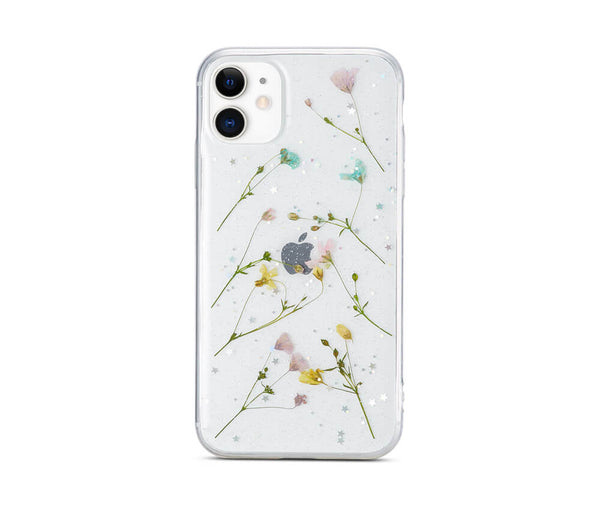 Dried Petal Flower Transparent Case for iPhone 11_1
