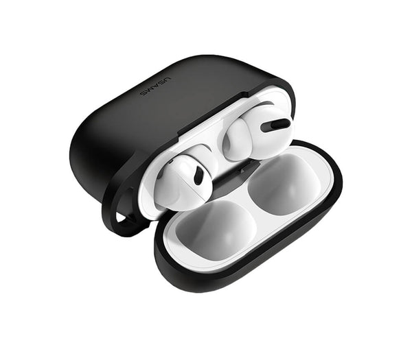 USAMS SILICON PROTECTIVE COVER for Airpods Pro#Colour_Black