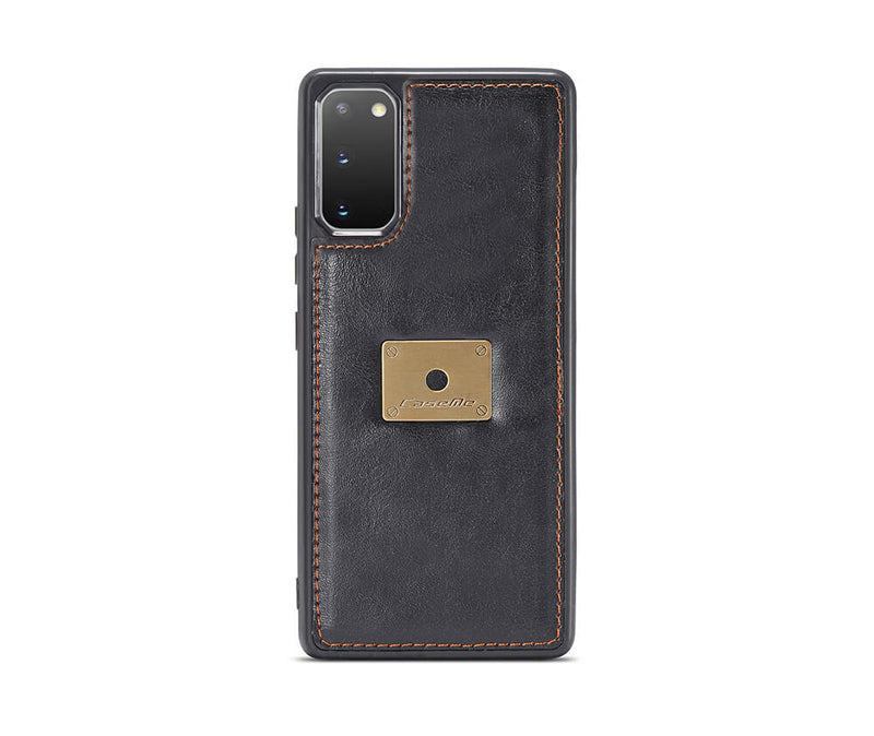 GALAXY S20+ DETACHABLE RETRO WALET CASE - BLACK