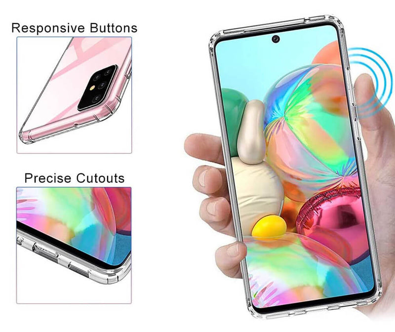 SLIM & PROTECTIVE TRANSPARENT TPU W/ RAISED EDGES for Galaxy A71 5G_2
