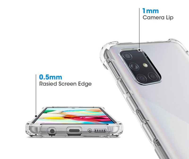 SLIM & PROTECTIVE TRANSPARENT TPU W/ RAISED EDGES for Galaxy A71 5G_3