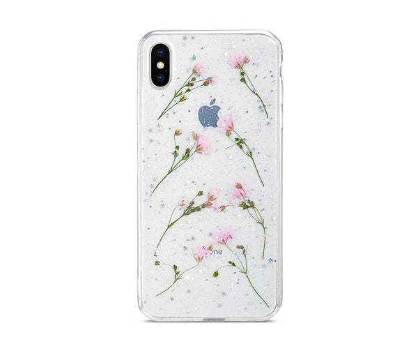DRIED DAISY FLOWER TRANSPARENT CASE for iPhone X and iPhone XS_1