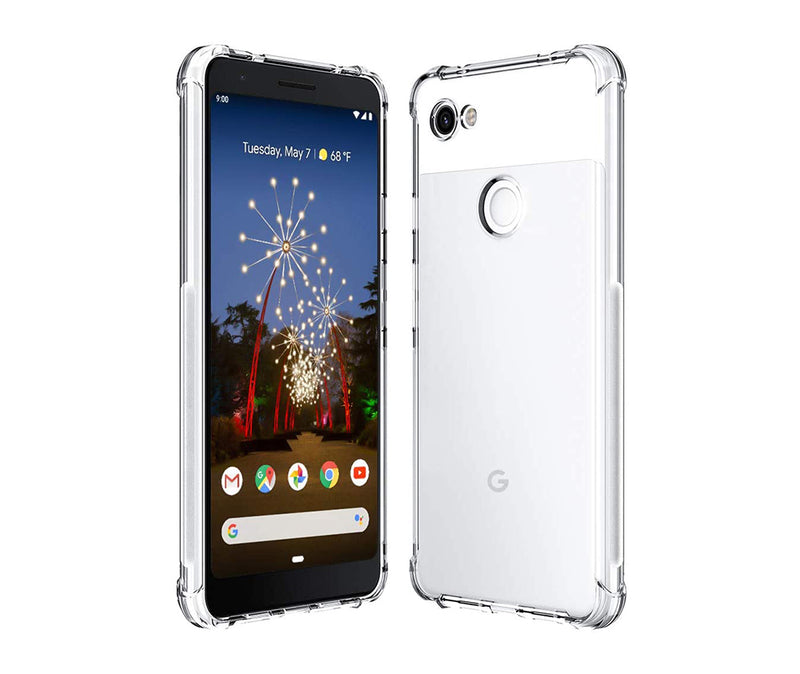 SLIM & PROTECTIVE TRANSPARENT TPU W/ RAISED EDGES for Pixel 3a XL_1