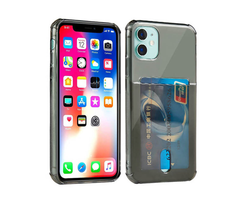 Slim & Protective Transparent with Raised Edges & Card Slot for iPhone 11 Pro Max