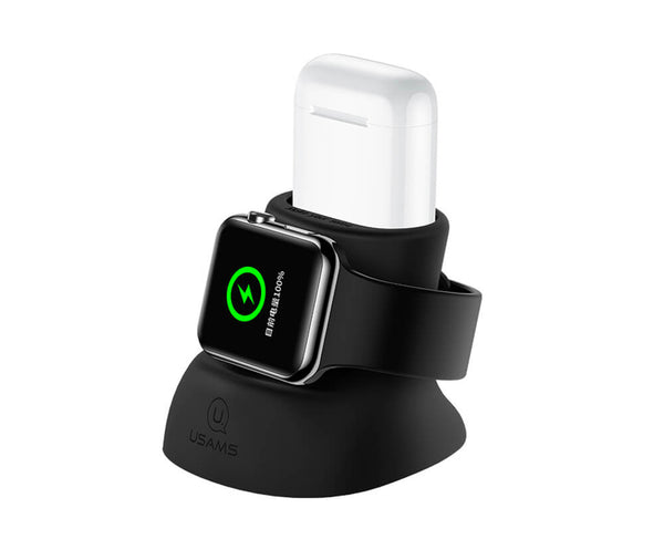 Silicon Charging Holder for iWatch and Airpods_1