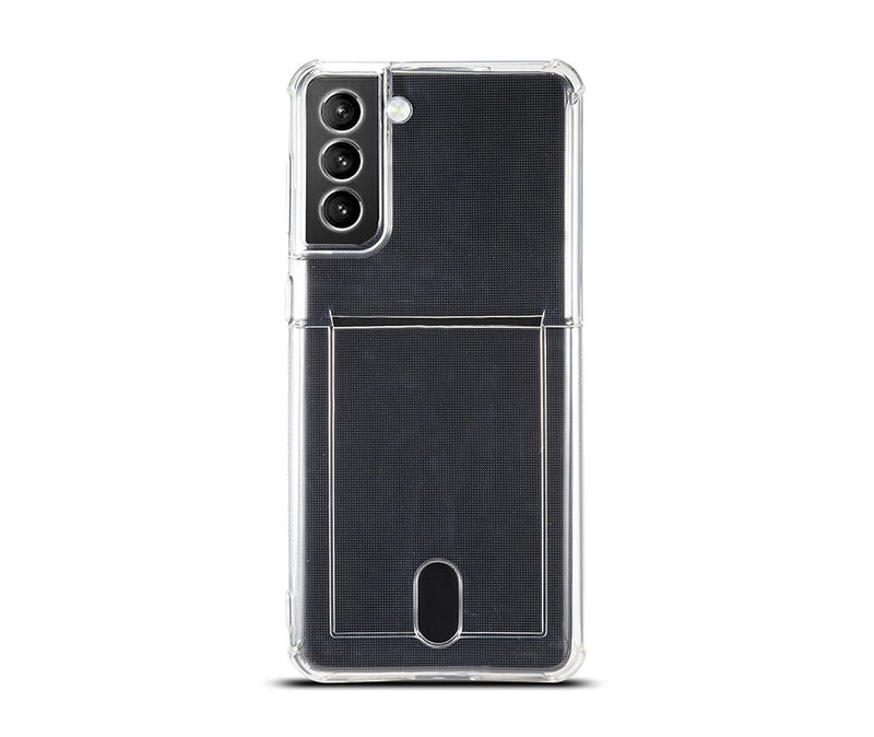Slim & Protective Transparent TPU with Raised Edges & Card Slot_1