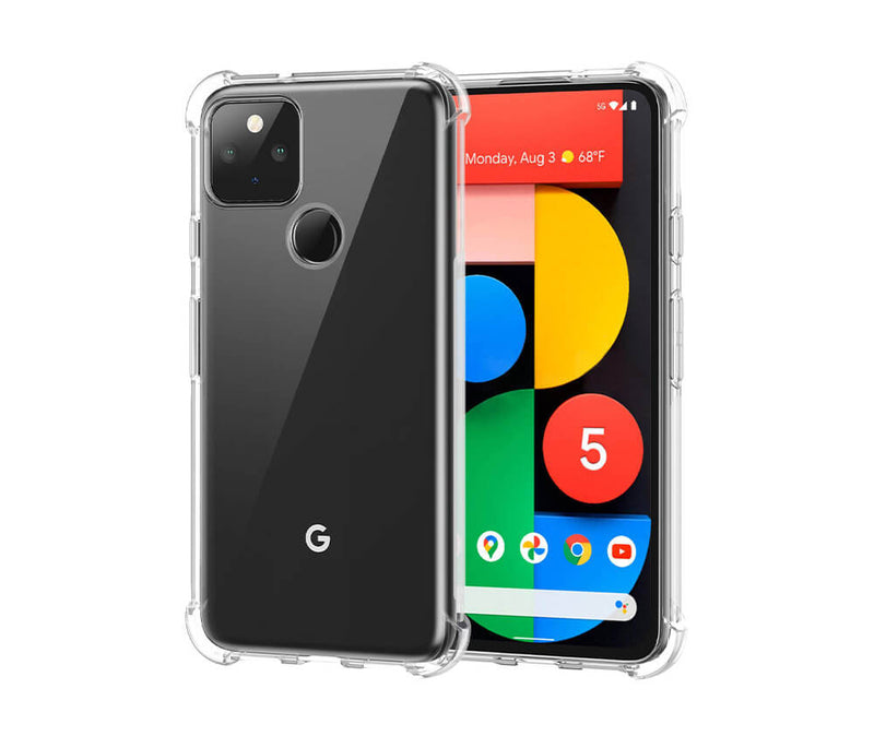 Slim & Protective Transparent TPU with Raised Edges for Google Pixel 5 5G_1