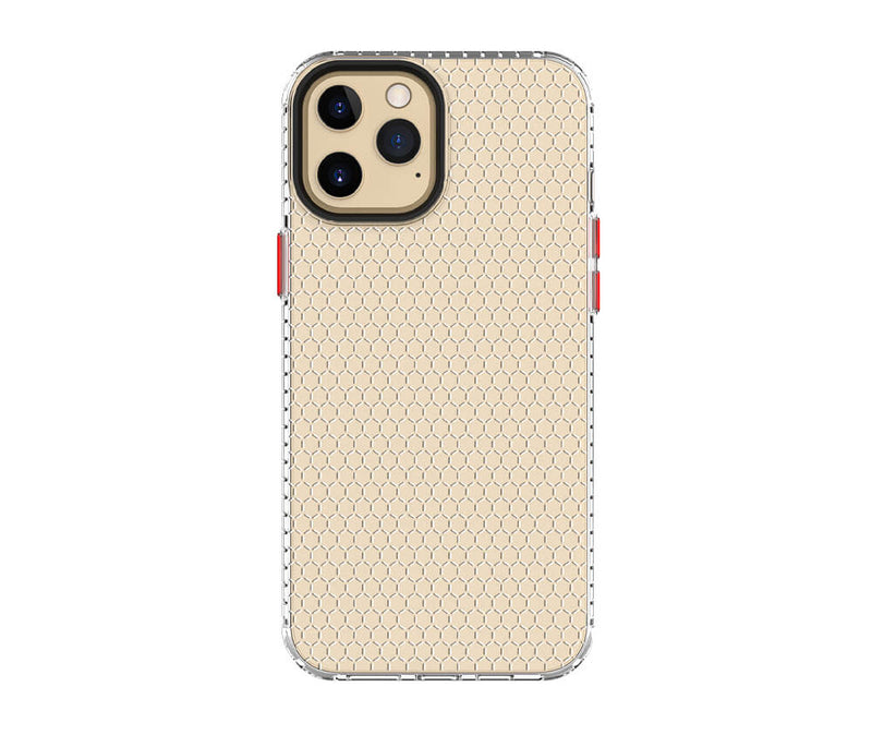 Shockproof Transparant Honeycomb Pattern TPU Case