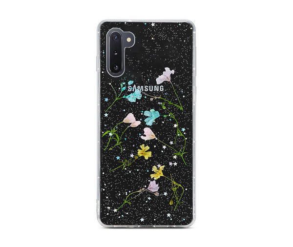 DRIED PETAL FLOWER TRANSPARENT CASE for Galaxy Note 10_1