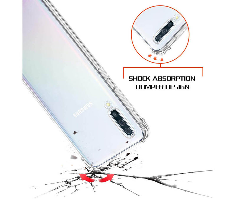 SLIM & PROTECTIVE TRANSPARENT TPU W/ RAISED EDGES for Galaxy A50_2