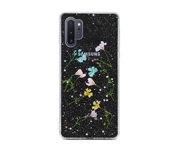 DRIED PETAL FLOWER TRANSPARENT CASE for Galaxy Note 10+_1