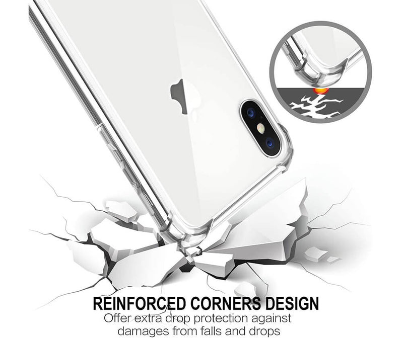 SLIM & PROTECTIVE TRANSPARENT TPU W/ RAISED EDGES for iPhone X & XS_3
