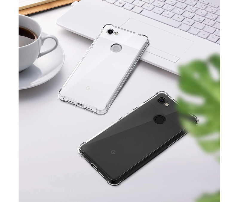 SLIM & PROTECTIVE TRANSPARENT TPU W/ RAISED EDGES for Pixel 3a_3