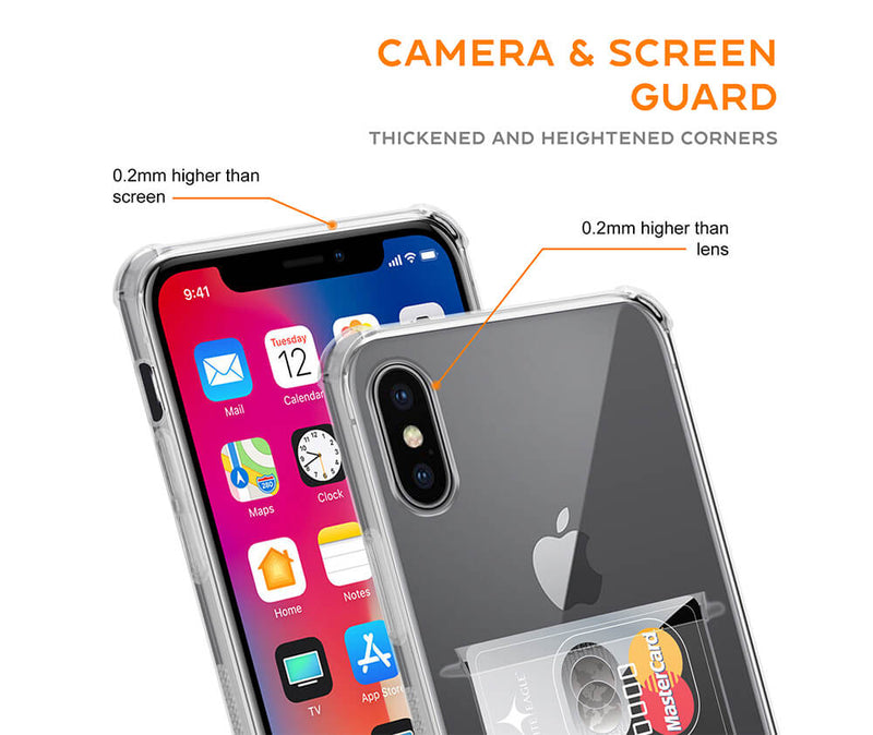 Protective Transparent Card Slot TPU Case_3